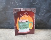 Have a Cozy Christmas, Christmas Card, Printed on recycled paper