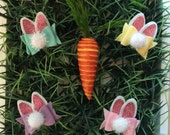 Peter cotton tail clip, Glitter Bunny ears clip, glitter, easter clip, bow, easter bow, easter headband