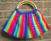 vibrant crocheted bag