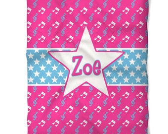 Personalized Superstar Fleece Blanket
