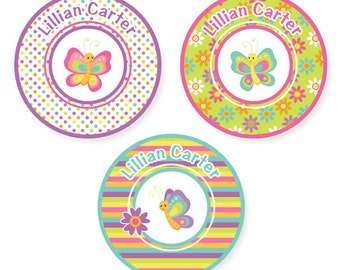 Iron On Labels (2 Sizes), Butterflies