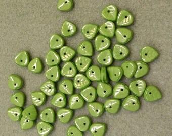 Czech Glass Leaf Beads CZL5