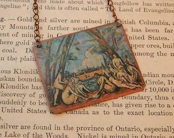Cezzane necklace Paul Cezzane The Large Bath mixed media jewelry