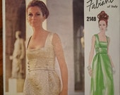 Stunning and RARE Vogue Paris Original 2148 by FABIANI dress pattern- B32.5 cut 1960s evening dress