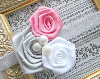 Easter Headband - Baby Flower Headband - Small Flower Headband - Baby Photo Prop