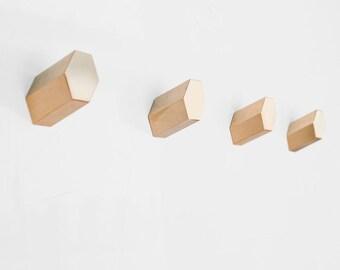 Set of 4 Hex Brass Hooks - Parallax