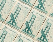 50 pieces - 1964 5 cent Verrazano-Narrows Bridge - Vintage unused stamps - great for wedding invitations, save the dates