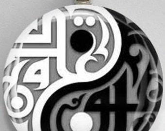 Interchangelable Magnetic Yin Yang #21 Pendant Necklace Handmade