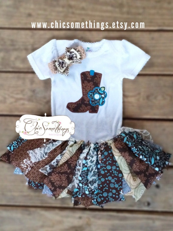 Fabric Tutu Country Cutie Cowgirl Barn Country Shabby Chic
