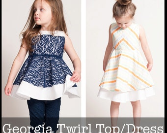 Georgia Twirl Dress and Tunic PDF sewing pattern