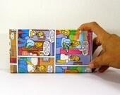 simpsons comics vegan wallet, recycled wallet, paper wallet, comics wallet, gift for teenage girl