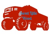 Lifted Truck 4x4,  2 x digital SVG file in line format and color  format, masculine, detailed JPEG and PNG