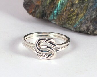 Double Knot Ring, Sterling Silver, Made to Order