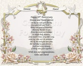 NEW!! 3 Anniversary Personalized Gift Keepsake and Remembrance