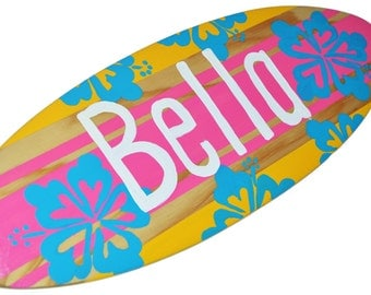 Personalized Surfer Baby Shower Gift - Custom Surfboard Decor for your Beach Themed Party