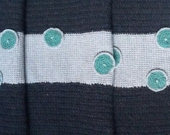 Lovely soft charcoal grey/silver grey with green patterns on,warm & cuddly.  40% . OFF ALL Items in SHOP