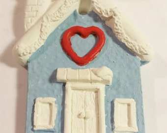 X-Large, HOUSE, HEART, Christmas, SILICONE Mold - resin, polymer clay, metal clay,  mold, soap mold, flexible 3D mould Hot Glue Mold