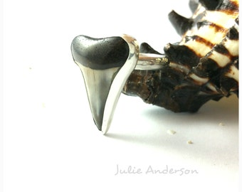 Shark Tooth Ring, Shark Tooth Jewelry, Sterling Silver, Shark, Shark Teeth, polished