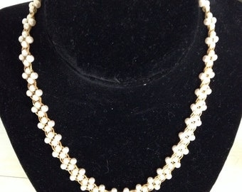Vintage Faux Seed Pearl Necklace/ Choker by Napier