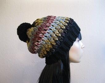 Crochet Beanie - Prism Slouchy Hat - Beanie Hat - Crochet Slouchy Beanie - Winter Hats - Beanies - Crochet Beanie Hat - Slouchy Beanie Hat