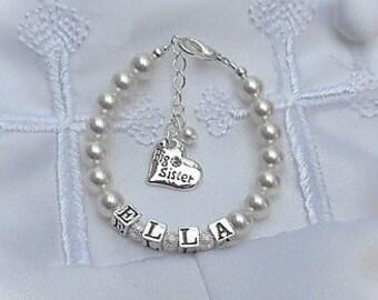 Bracelet for Big Sister Bracelet-FREE SHIPPING-Personalized-Big Sister Jewelry-Big Sister Gift-Sister Bracelets