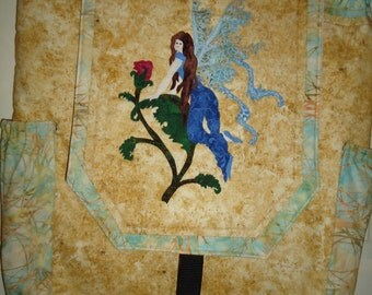 Quilted Fairy Backpack - Fairy Art - Fantasy Art