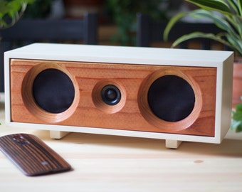NEW! Wood Speaker System || Wireless Bluetooth Speaker From Reclaimed Wood || Willow Speaker | Heritage White & Redwood || FREE SHIPPING