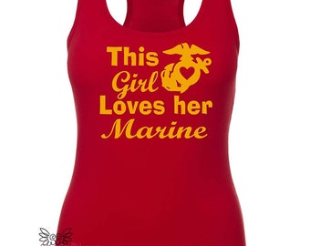This Girl loves her Marine, Marines Wife,Marines Love shirt, Marine Corps, Milso, Military spouse shirt, Marines shirt, Proud marine wife,
