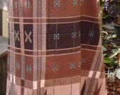 man's sarong brown check MA13