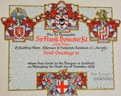 1938 Lord Mayor of London Sir Frank Bowater Invitation to Banquet at the Guildhall London Vintage Ephemera Antique Ephemera