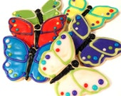 Butterfly Sugar Cookies  Iced Decorated Butterfly Cookie Spring Summer Theme Cookie Favors