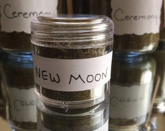 New Moon special blend in small jar .03oz) Made by Lozen BrownBear/