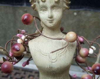 Decorative Figural Woman Statue with Flower Buds