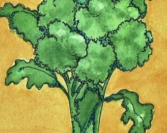 Broccoli Watercolor Print