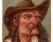 "Honest Long Cut Tobacco Comic Characters : ""Ripper"" 1888 Ephemera Tobacciana Cigarette"
