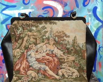 Vintage Hand Embroidered Italian bag
