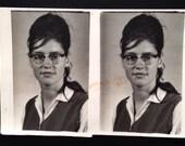 Original Antique Photograph Double Portrait Gertrude