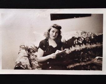 Original Antique Photograph Pensive Paula