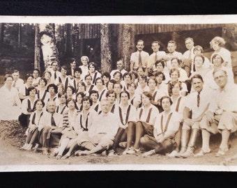 Original Antique Photograph Lily's Troop
