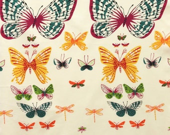 African Butterfly Cotton Fabric by Alexander Henry