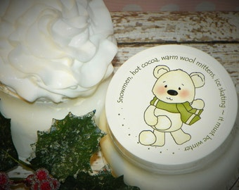 Whipped Body Butter - Winter Bear with Sage Green Scarf (It Must Be Winter)