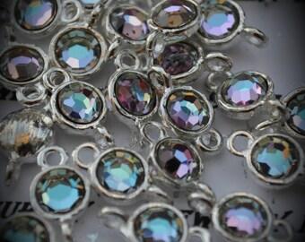 Vitrail Light Large Genuine Sterling Silver Plated Swarovski Crystal Connectors Link U100