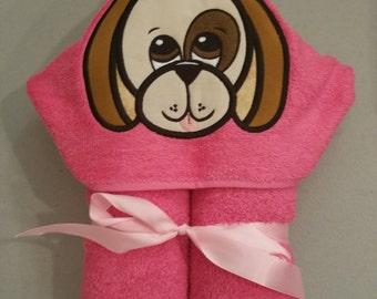 Beagle Puppy Hooded Bath Towel
