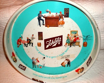 Schlitz Beer Tray