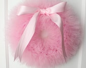 "Light Pink Ballerina Party Tutu Wreath/ It's a Girl Wreath - 14"" or 16"""