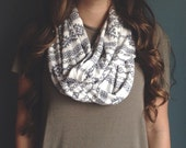 INVENTORY SALE || Infinity Scarf: Gray Navajo Jersey