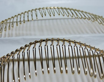 18K Gold Plated Wire Metal Comb 3 or 4 inches