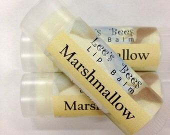 Marshmallow Lip Balm - One Tube of All Natural Beeswax Lip Salve Chapstick from Lee the Beekeeper