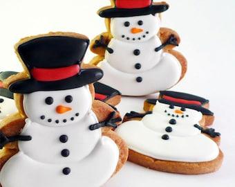 Decorated Butter Cookies - Snowman - 1 dozen