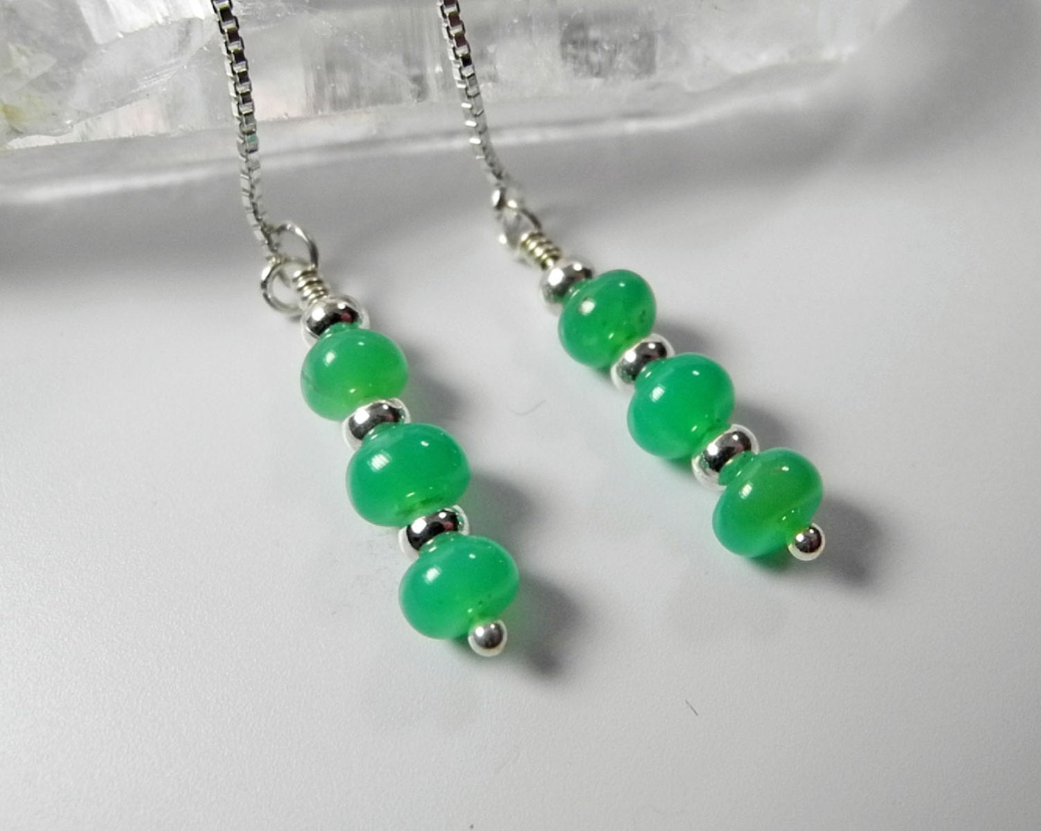 green chrysoprase earrings chrysoprase by mysticalmoondesigns